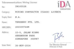 IDA Telecommunications Wiring Licence