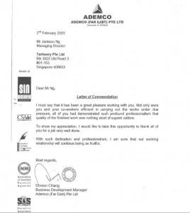 Terhenry ISO 9001 Cert